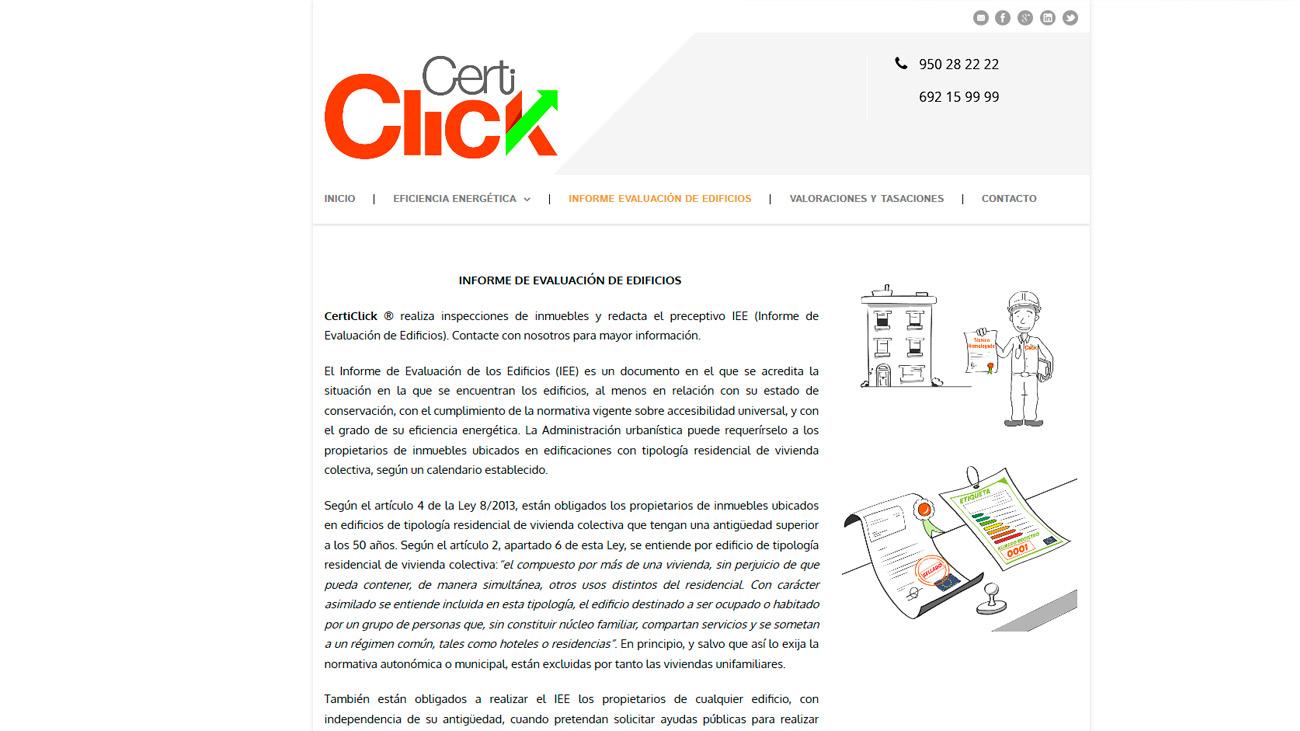 Certiclick Informe evaluación edificios